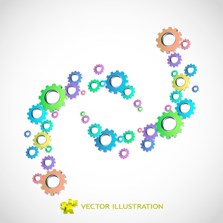 Vector gear background. Abstract illustration.   Vector