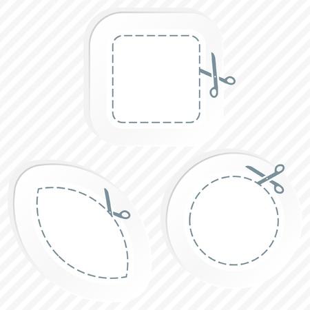 Vector label templates. Stock Vector - 9142072
