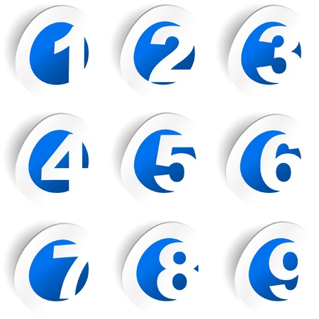 web icons communication: Numbers. Illustration