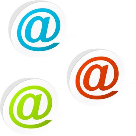 E-mail sticker set for web. Stock Vector - 8890826
