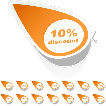 Discount sticker templates with different percentages Stock Vector - 9142465