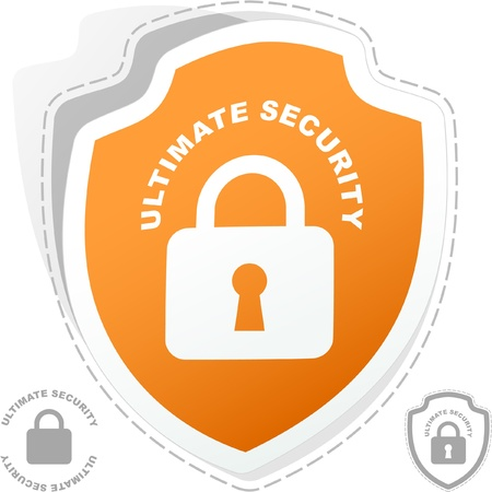 Padlock sticker. Vector