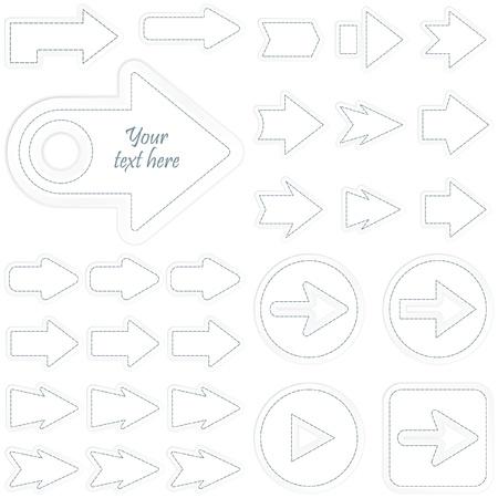 arow: Set of arrows. Vector illustration.