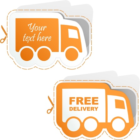 Free delivery elements for sale   Stock Vector - 8890916