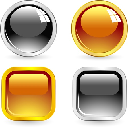 clean off: Vector button set