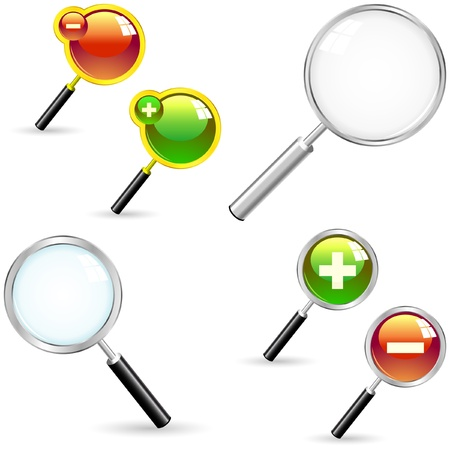 Magnifier. Great collection. Vector