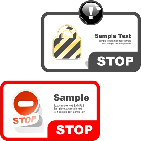 Warning vector banner. Vector template. Stock Vector - 8898647