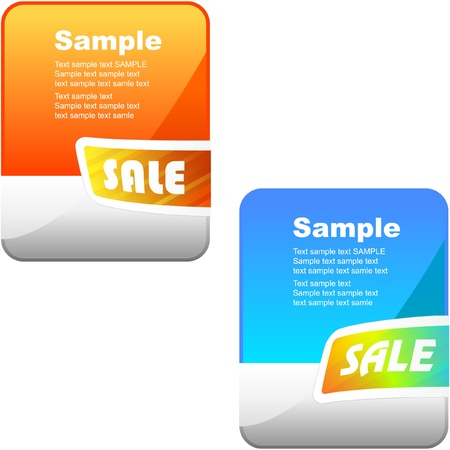 Banner set for sale.   Vector