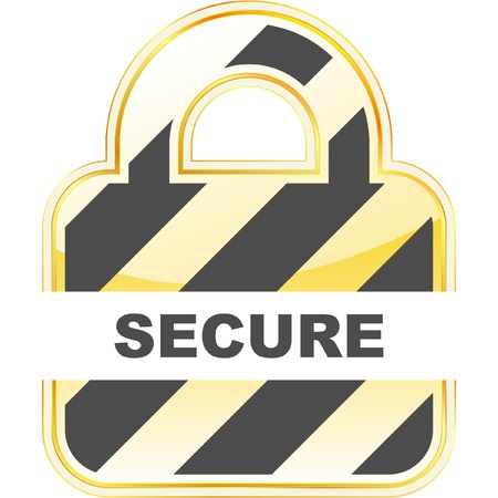 SECURE. Stock Vector - 8898633