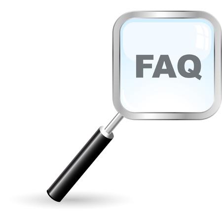 FAQ Stock Vector - 9196636