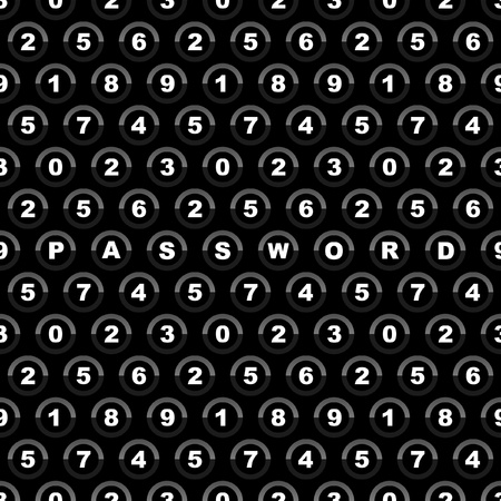 Seamless background with numbers    Vector