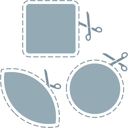 scissors with cut lines templates to choose form   Vector