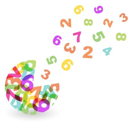 six web website: Numbers.  Illustration
