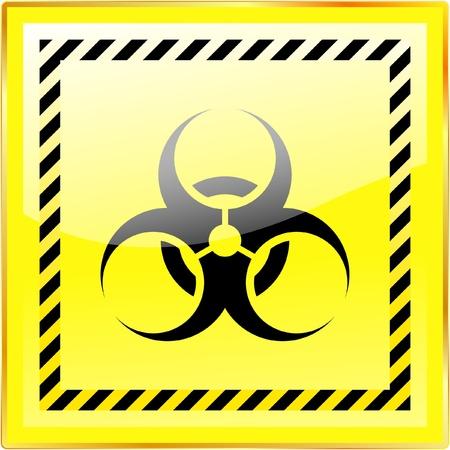 the bacteria signal: Biohazard sign. Vector illustration.