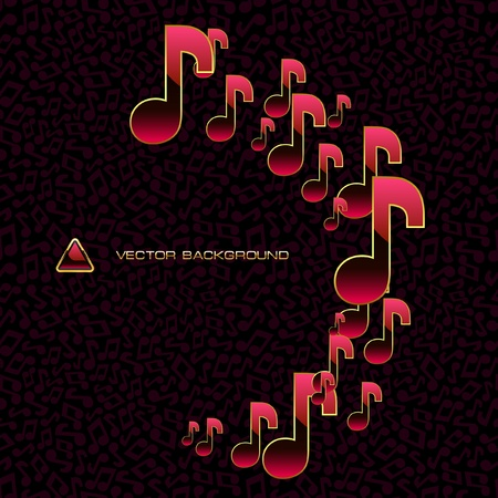 conceptual image: Music. Abstract background. Illustration