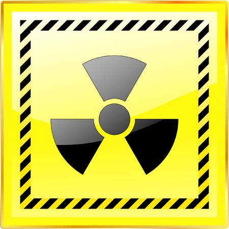 ejaculation: Radioactive icon. Vector illustration.
