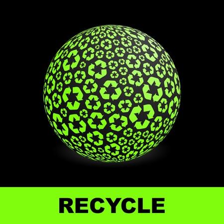 directiva: Globo con s�mbolos de reciclaje.   Vectores