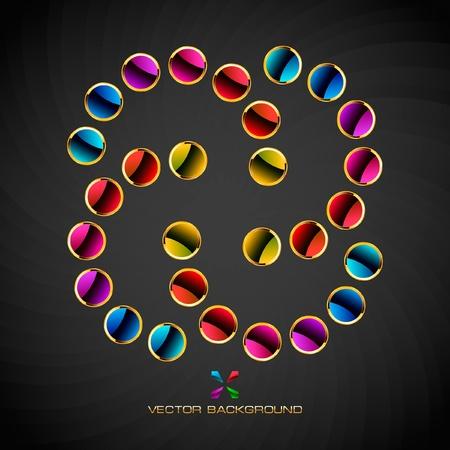Rainbow design element. Vector