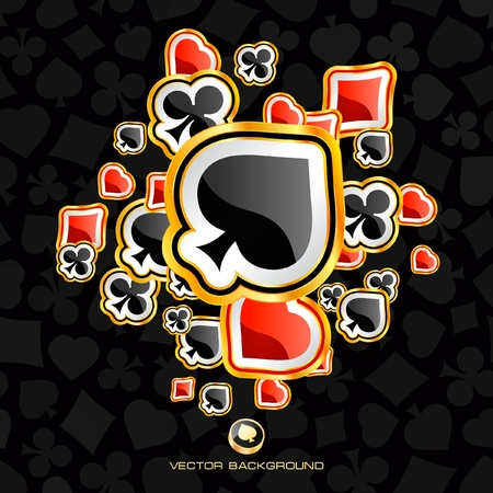 jack hearts: Abstract background with card suits. Vector illustration.