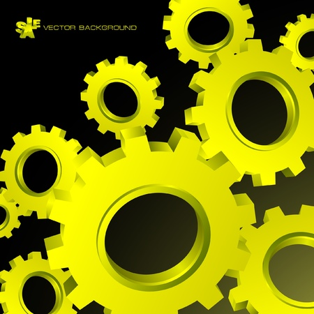 to revolve: Vector gear background. Abstract illustration.