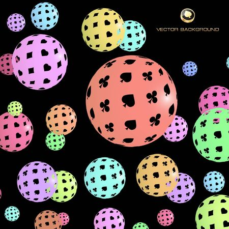 Abstract background with card suits. Vector illustration.  Vector