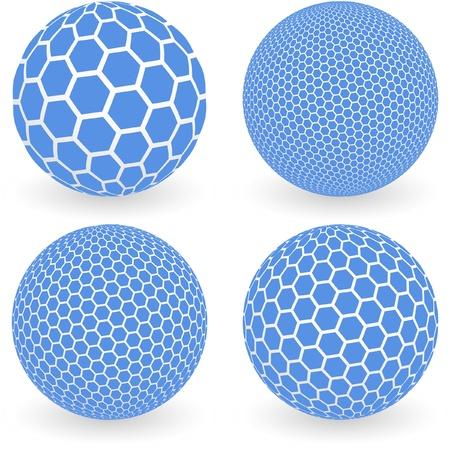 mineralien: Globus mit Sechskant-Zeichen. Vektor-Illustration.   Illustration