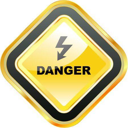 hazardous area sign: Peligro Vectores