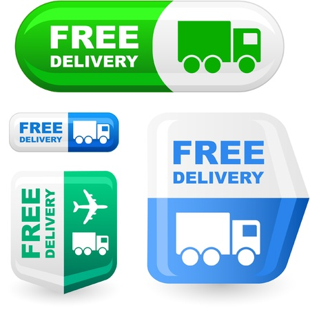 delivery driver: Free delivery element set for sale