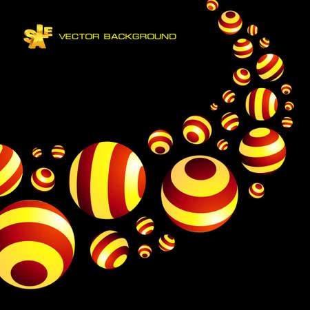 Abstract background with circle elements.   Vector
