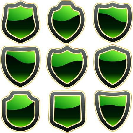 Shield  collection.  Vector