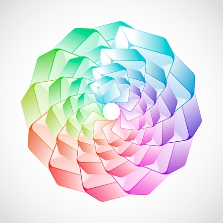Abstract Background with colorful Boxen