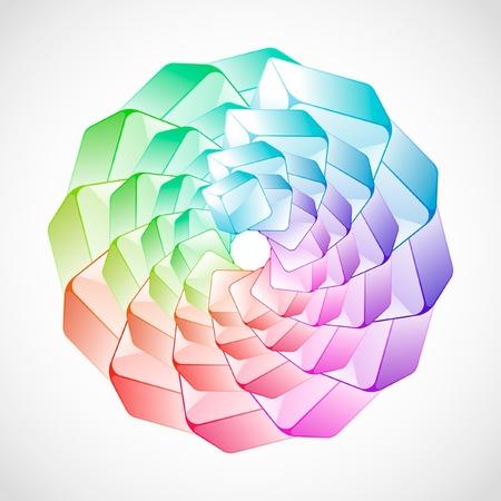 Fondo abstracto con coloridos cuadros