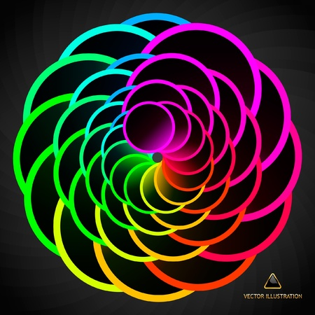 multicolored: Rainbow abstract element