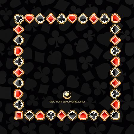 joker naipe: Fondo abstracto con trajes de la tarjeta. Ilustraci�n vectorial.