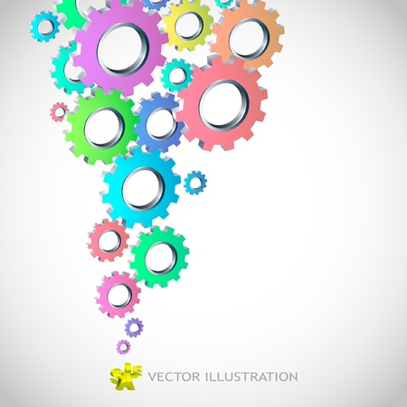 gearing: gear background. Abstract illustration.