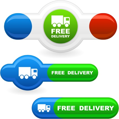 Free delivery elements for sale   Vector