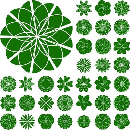 figure logo: Colecci�n de flores para el dise�o. Gran colecci�n de vector.