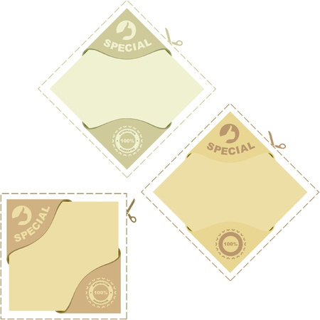 Set of design elements for sale. Stock Vector - 8891010