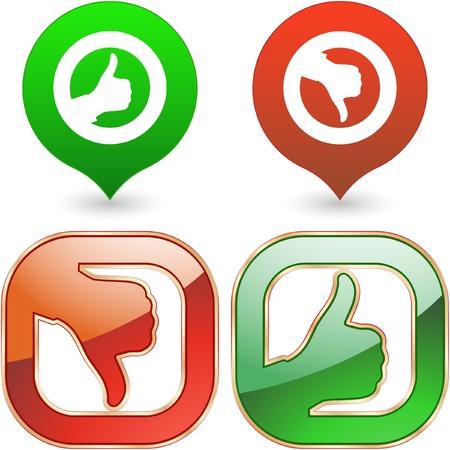 consommateurs: Approuv� et rejet� jeu d'ic�nes.