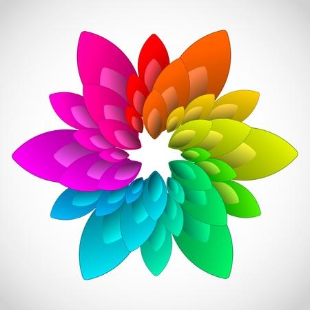flower clip art: Rainbow design element