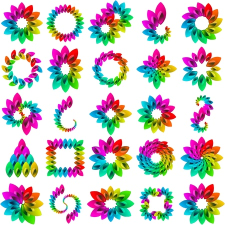 Rainbow design elements  Stock Vector - 8891066