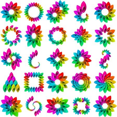 spin: Rainbow design elements  Illustration