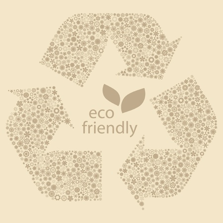 Eco friendly.  Vector
