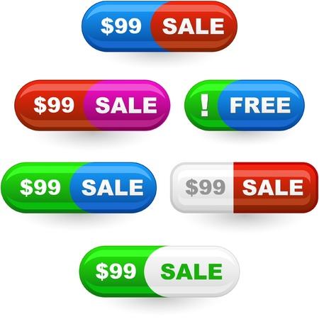cost reduction: set of sale design elements   Illustration