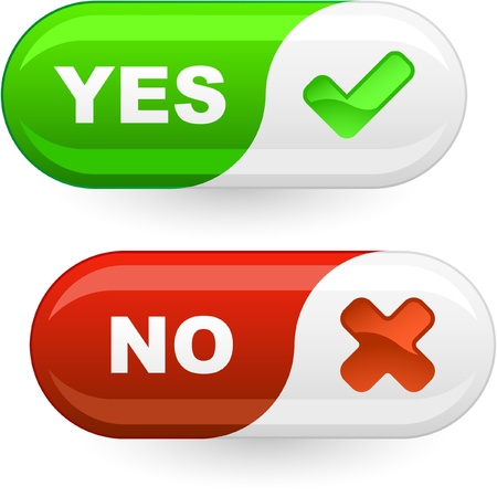 accept: Yes and No icon.