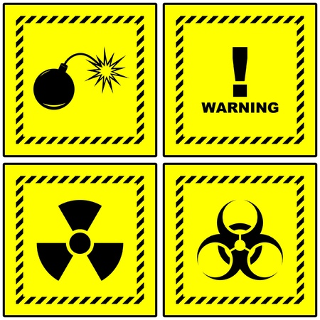 Warning vector signs.