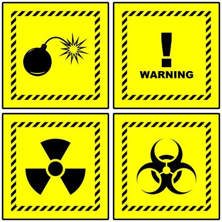 Warning vector signs. Stock Vector - 9040424