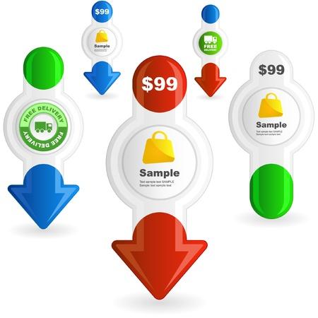 Vaus sale design elements   Stock Vector - 9392539