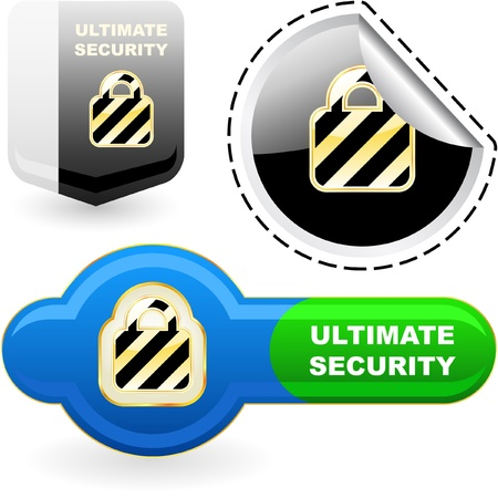 Ultimate security. Vector set. Vector