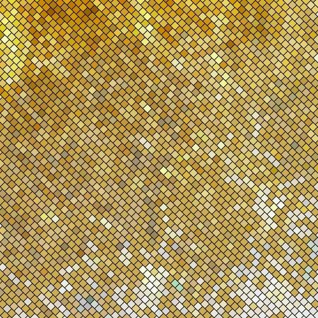 shining light: Mosaico de vector de oro. Fondo abstracto.   Vectores